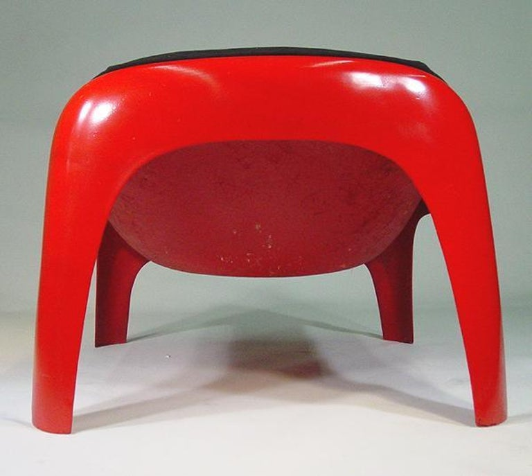 Mid-20th Century Rare Sergio Mazza Lounge Chair for Artemide For Sale