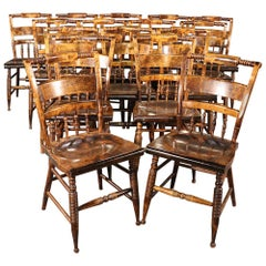 Rare Set of 16 Nichols & Stone Rock Maple Dining Conference Chairs