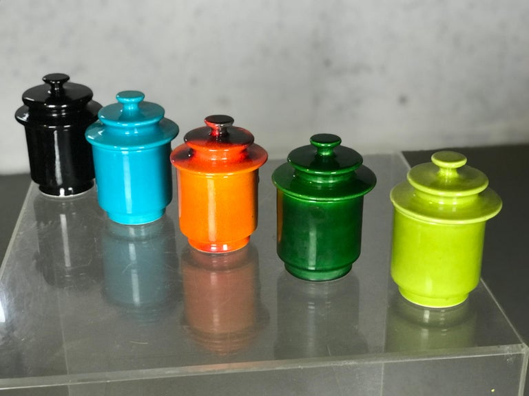 Rare Set of 1960s Lidded Apothecary