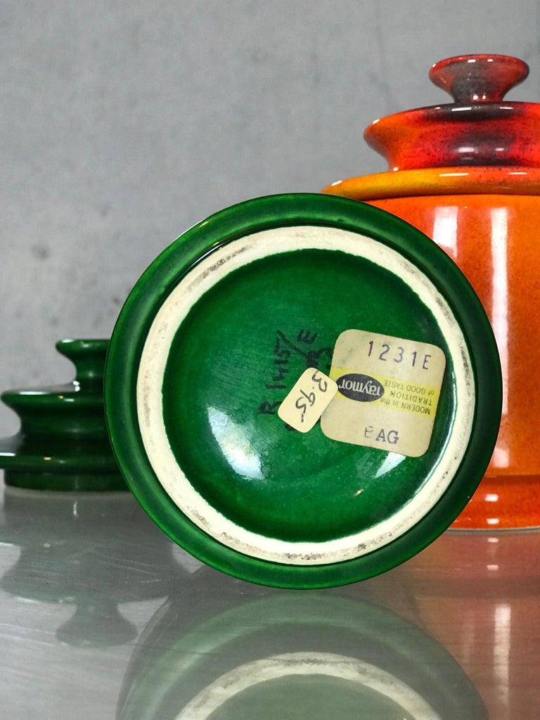 Ceramic Rare Set of 1960s Lidded Apothecary