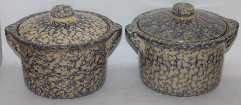 Rare Set of 19th Century Sponge Ware Kitchen Organizer For Sale 11