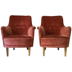 "Rare Set of 2 Carl Malmsten ""Samsas"" Chairs, Sweden, 1960s"