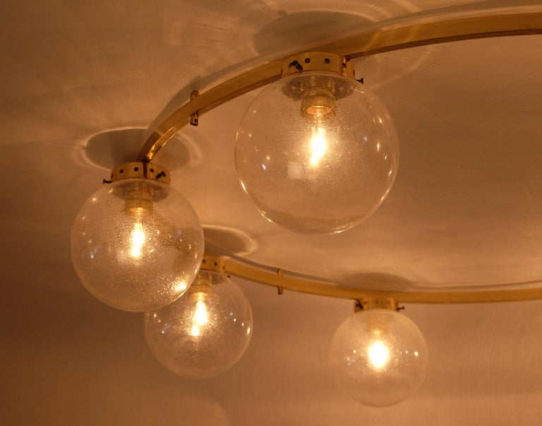Rare Set of 3 Large Chandeliers, Sweden, 1960s In Good Condition For Sale In Stockholm, SE