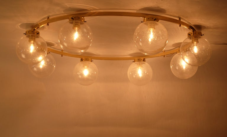 Mid-20th Century Rare Set of 3 Large Chandeliers, Sweden, 1960s For Sale