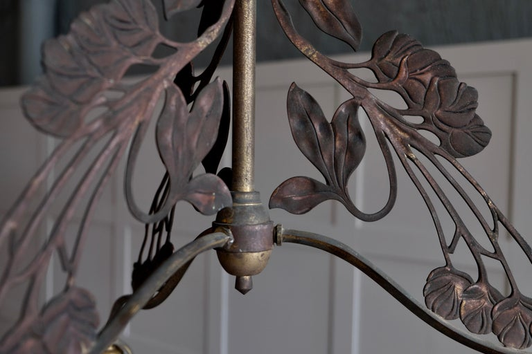 Late 19th Century Rare set of 4 French Art Nouveau Chandeliers, circa 1900s For Sale