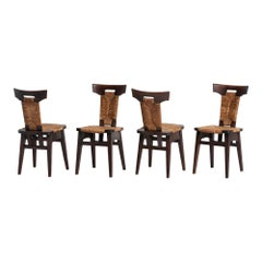 Rare Set of '4' Rush Chairs