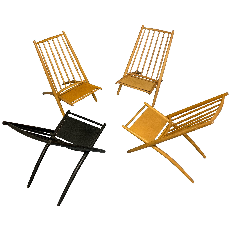 Rare Set of 4 Tapiovaara Congo Lounge Chairs
