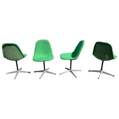 Rare Set of 4 Vintage Swivel PKC Eames Wire Chairs for Herman Miller