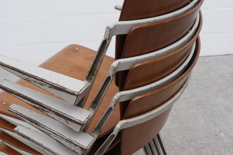 Rare Set of 4 Wim Rietveld 'Pyramid' Armchairs For Sale 3