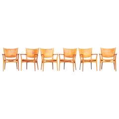 Rare Set of 6 Armchair Dining Chair by Hans J. Wegner for PP Møbler, Denmark