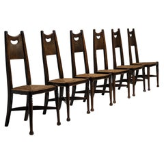 Rare Set of '6' Dining Chairs by George Walton