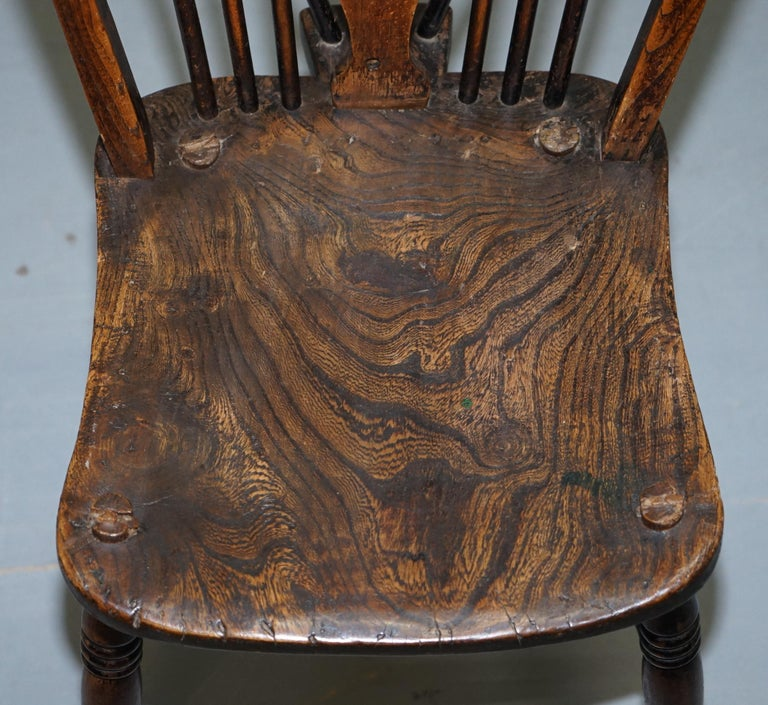 Early Victorian Rare Set of 6 Victorian 1840 Hoop Back Windsor Chairs High Wycombe, England For Sale