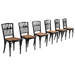 Rare Set of '6' Viennese Secessionist Chairs
