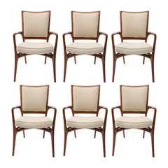 Rare Set of 6 Vladimir Kagan Dinging Armchairs