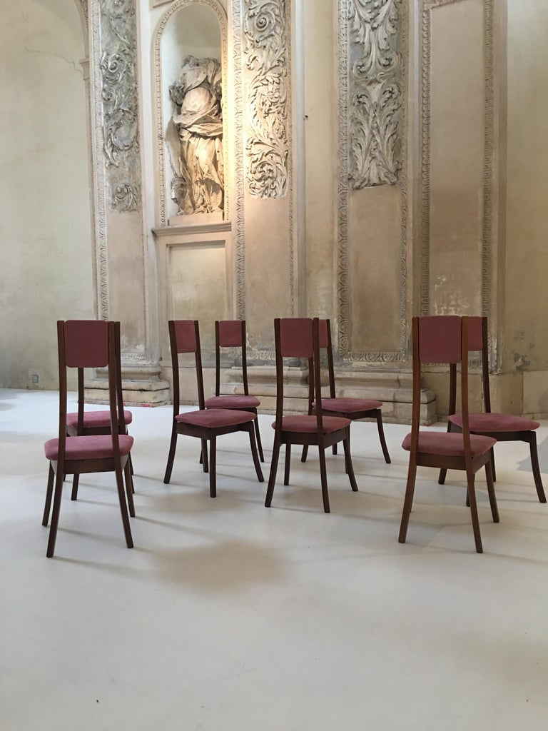 Rare Set of 8 Angelo Mangiarotti Dining Chairs, Mod. S11 In Excellent Condition For Sale In Carpaneto Piacentino, Italy