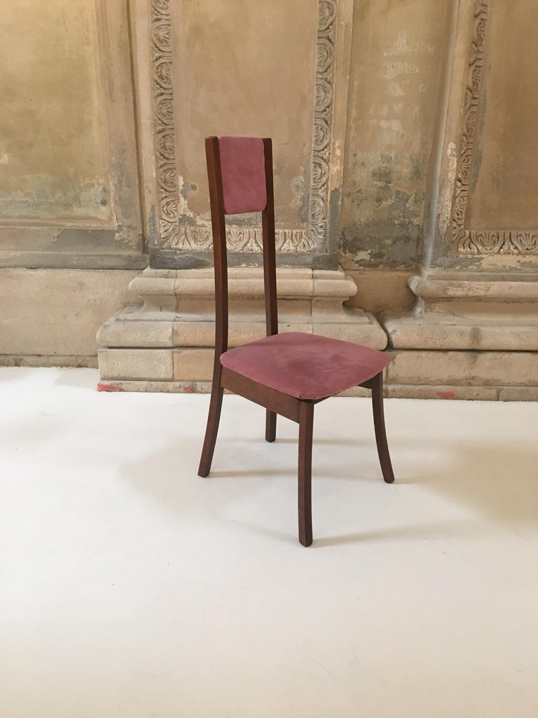 Late 20th Century Rare Set of 8 Angelo Mangiarotti Dining Chairs, Mod. S11 For Sale