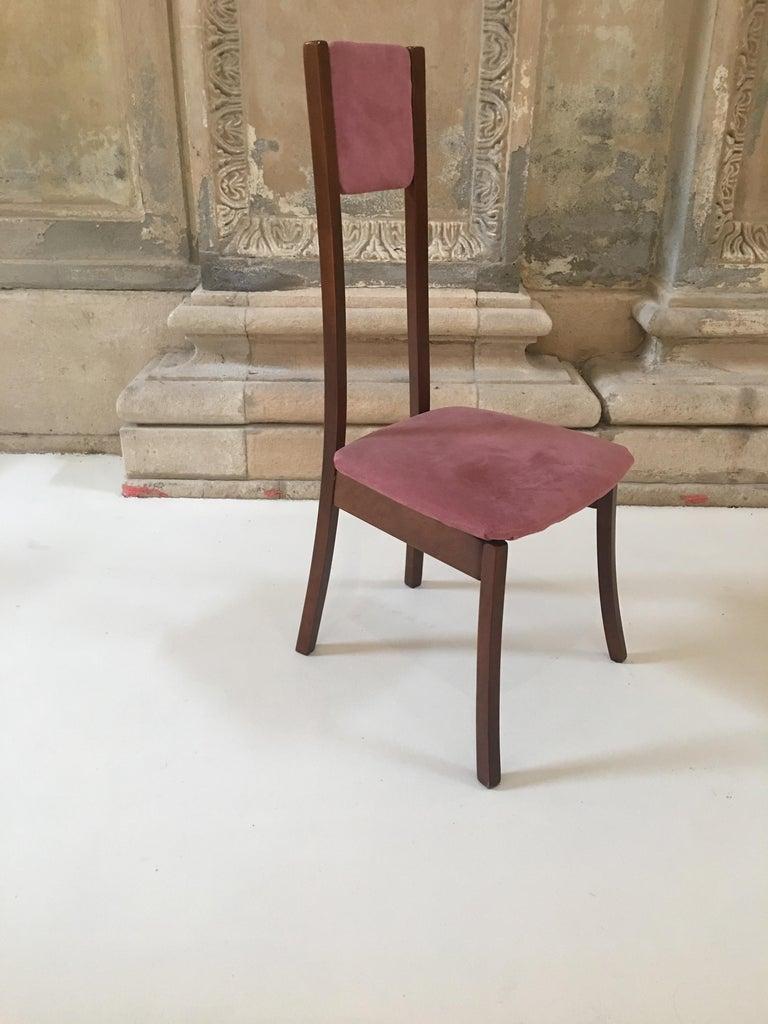 Rare Set Of 8 Angelo Mangiarotti Dining Chairs Mod S11