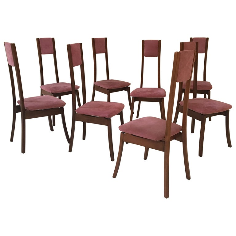 Rare Set of 8 Angelo Mangiarotti Dining Chairs, Mod. S11 For Sale