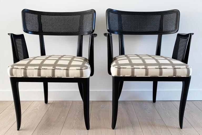 Rare Set of 8 Edward Wormley for Dunbar Ebonized Mahogany Dining Chairs 2