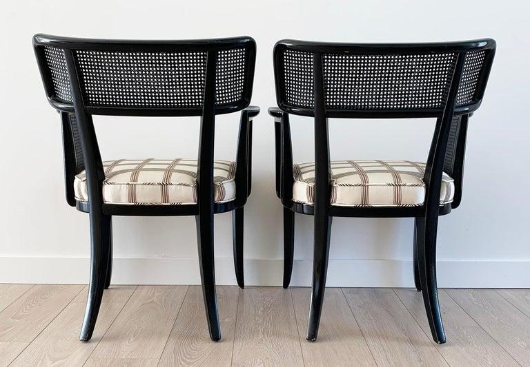 Rare Set of 8 Edward Wormley for Dunbar Ebonized Mahogany Dining Chairs 3