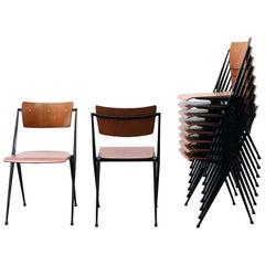 Rare Set of 8 Wim Rietveld Pyramid Stacking Chairs