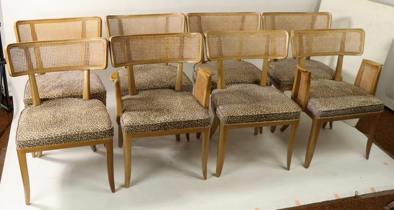 Rare Set of 8 Wormley for Dunbar Dining Chairs 13
