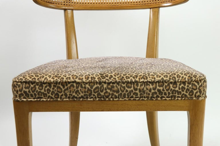 Upholstery Rare Set of 8 Wormley for Dunbar Dining Chairs
