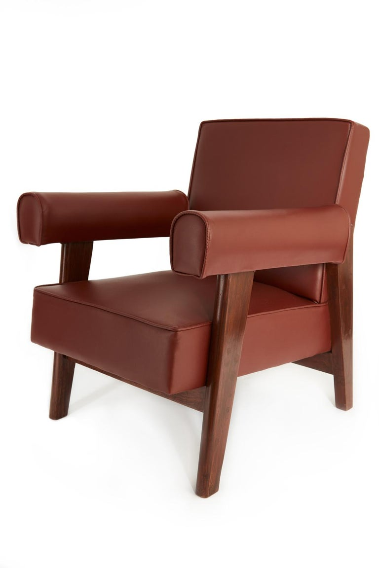Indian Rare Set of Advocate Armchairs by Le Corbusier and Pierre Jeanneret 'PJ-SI-42-A' For Sale