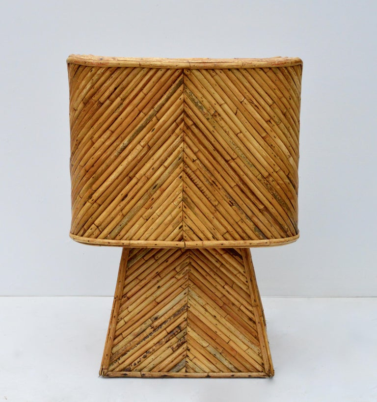 Rare Set of Bamboo Swivel Chairs For Sale 2