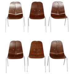 Rare Set of Bentwood Dining Chairs by Iver Bertelsen for Steelcraft