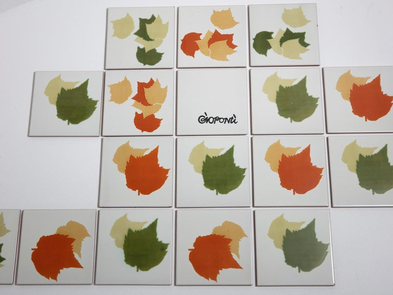 Rare Set of Ceramic Tiles by Gio Ponti for Ceramica D'Agostino In Good Condition For Sale In Milan, IT