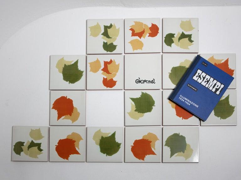 Rare Set of Ceramic Tiles by Gio Ponti for Ceramica D'Agostino For Sale 3