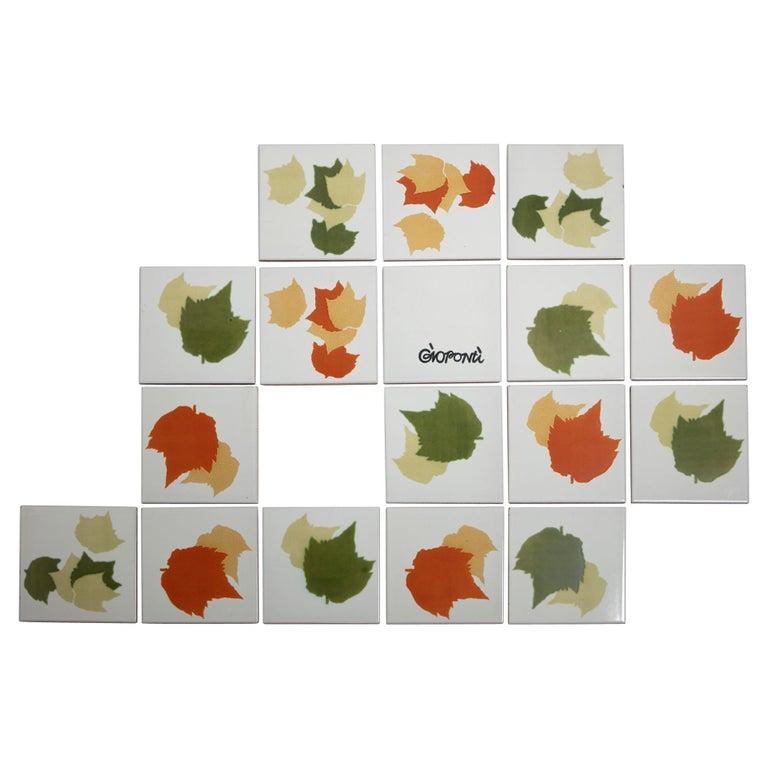 Rare Set of Ceramic Tiles by Gio Ponti for Ceramica D'Agostino For Sale