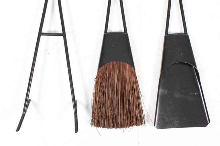 Scandinavian Modern Rare Set of Fireplace Tools by Quistgaard For Sale