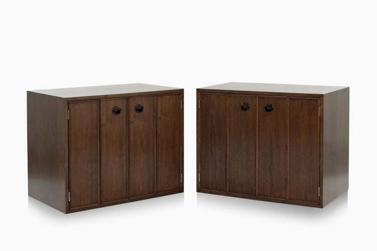 Mid-Century Modern Rare Set of Floating Cabinets by Edward Wormley for Dunbar, circa 1950s For Sale