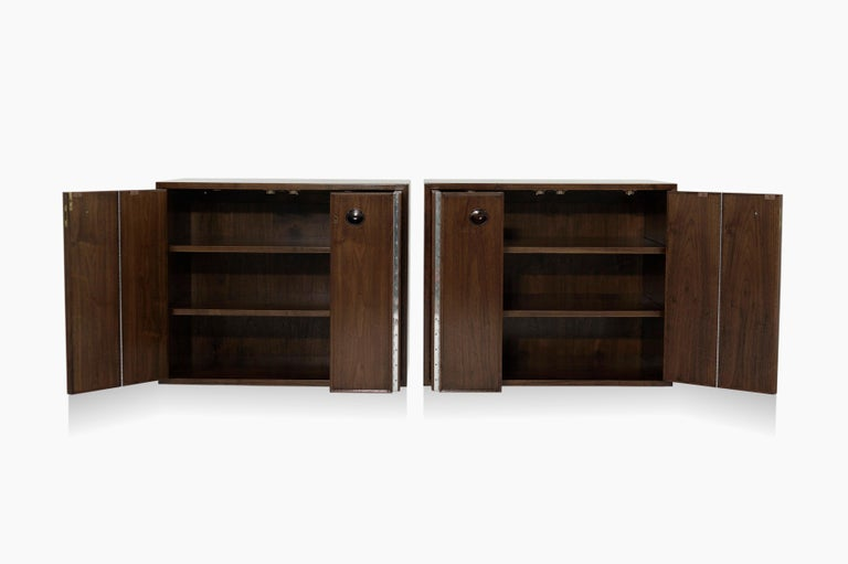 American Rare Set of Floating Cabinets by Edward Wormley for Dunbar, circa 1950s For Sale