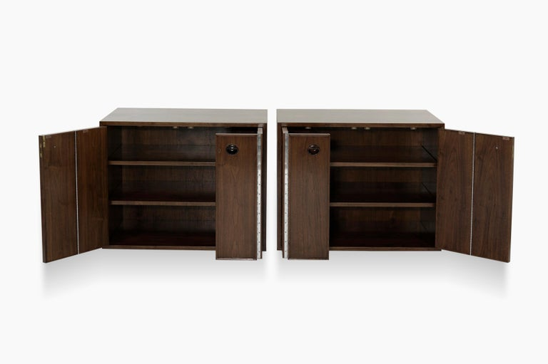 Rare Set of Floating Cabinets by Edward Wormley for Dunbar, circa 1950s In Excellent Condition For Sale In Stamford, CT