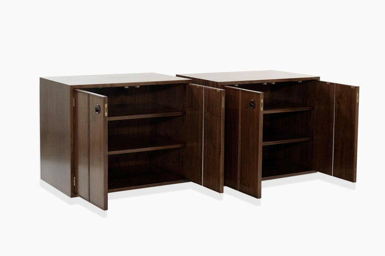 20th Century Rare Set of Floating Cabinets by Edward Wormley for Dunbar, circa 1950s For Sale