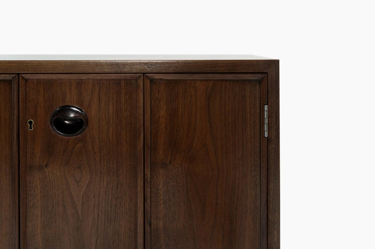 Walnut Rare Set of Floating Cabinets by Edward Wormley for Dunbar, circa 1950s For Sale