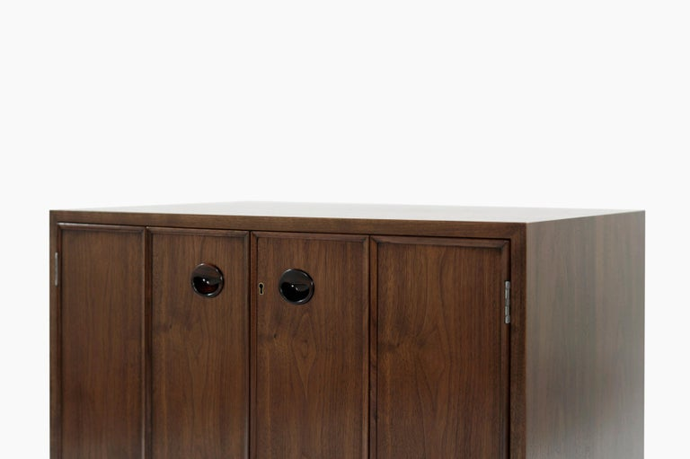 Rare Set of Floating Cabinets by Edward Wormley for Dunbar, circa 1950s For Sale 1