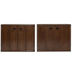 Rare Set of Floating Cabinets by Edward Wormley for Dunbar, circa 1950s