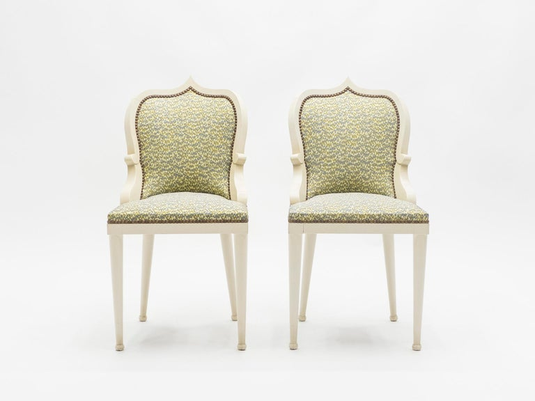 Rare Set of Four Garouste & Bonetti 'Palace' Dining Chairs, 1980 For Sale 7