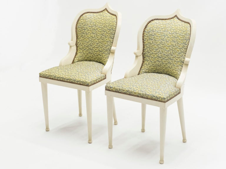 Modern Rare Set of Four Garouste & Bonetti 'Palace' Dining Chairs, 1980 For Sale