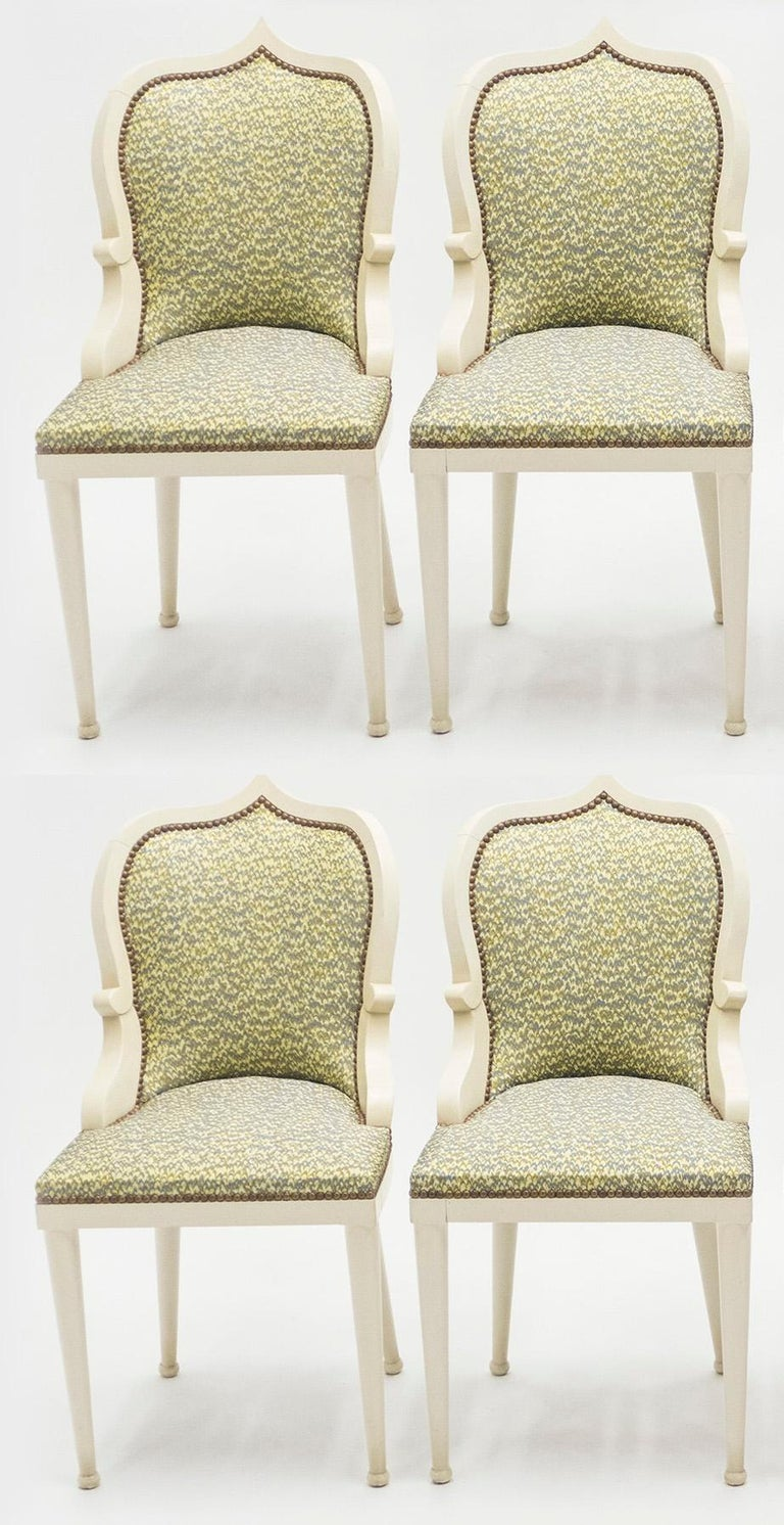 French Rare Set of Four Garouste & Bonetti 'Palace' Dining Chairs, 1980 For Sale