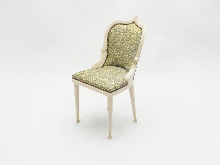 Rare Set of Four Garouste & Bonetti 'Palace' Dining Chairs, 1980 In Excellent Condition For Sale In Paris, FR