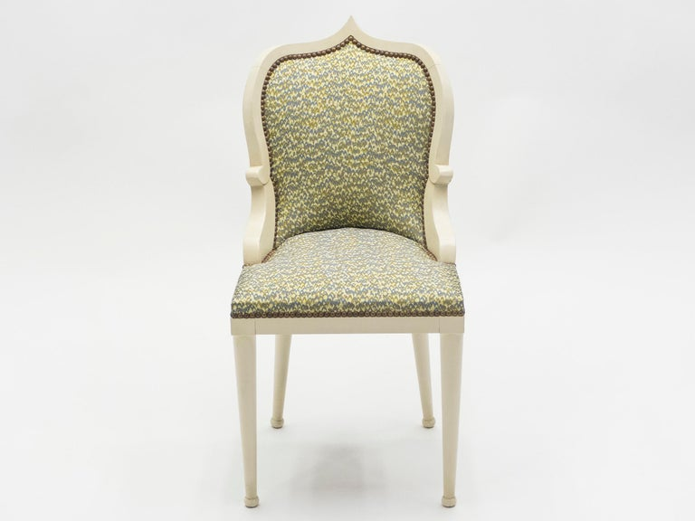 Late 20th Century Rare Set of Four Garouste & Bonetti 'Palace' Dining Chairs, 1980 For Sale