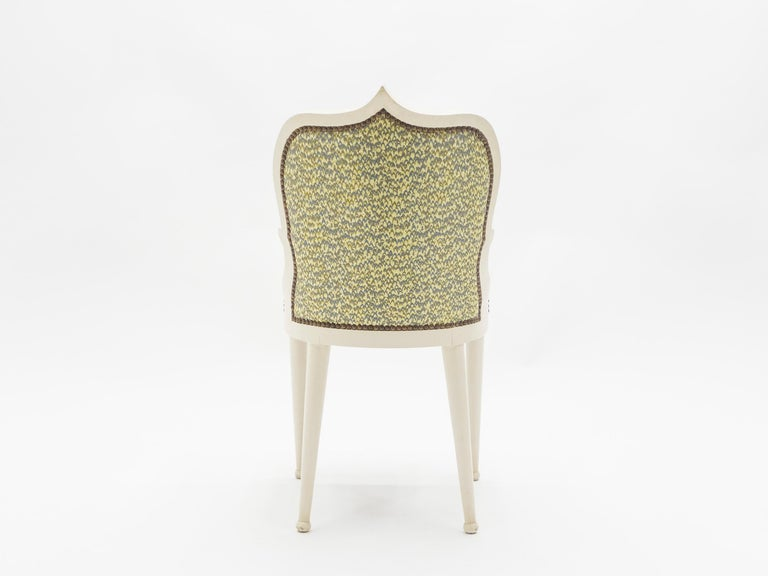 Rare Set of Four Garouste & Bonetti 'Palace' Dining Chairs, 1980 For Sale 1