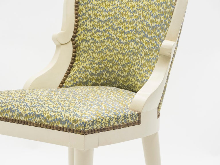 Rare Set of Four Garouste & Bonetti 'Palace' Dining Chairs, 1980 For Sale 2