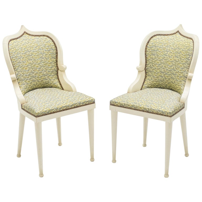 Rare Set of Four Garouste & Bonetti 'Palace' Dining Chairs, 1980 For Sale