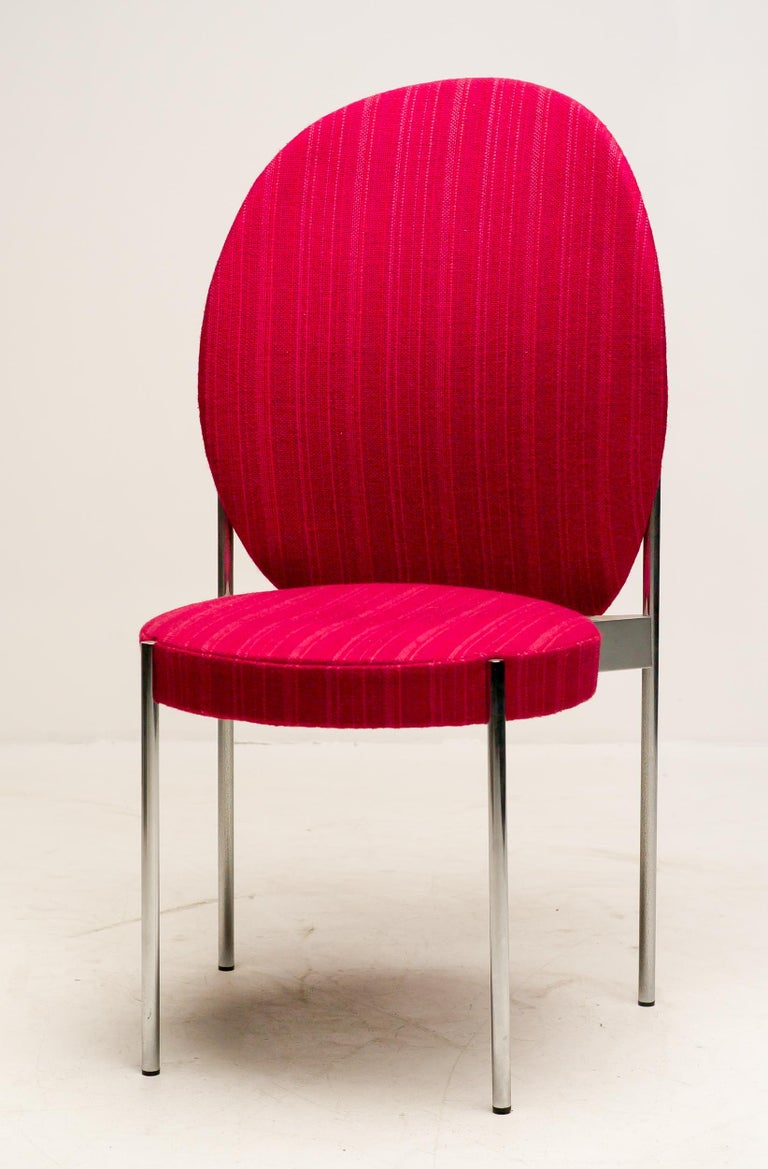 Mid-20th Century Rare Set of Four Verner Panton High Back Dining Chairs For Sale